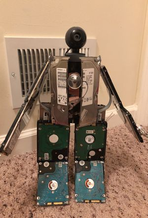 Robot made from recycled computer parts for Sale in Franklin Township, NJ