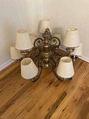 Chandelier with two sets of shades for Sale in Sayville, NY