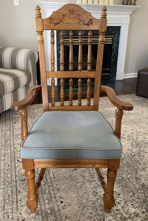 6 Solid Wood Dining Chairs for Sale in Durham, NC