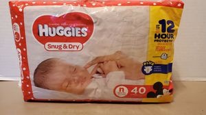 HUGGIES SNUG & DRY SIZE N/B for Sale in Portsmouth, VA