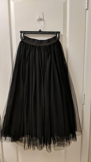 Women's medium black tulle skirt with black lining. for Sale in Scottsdale, AZ