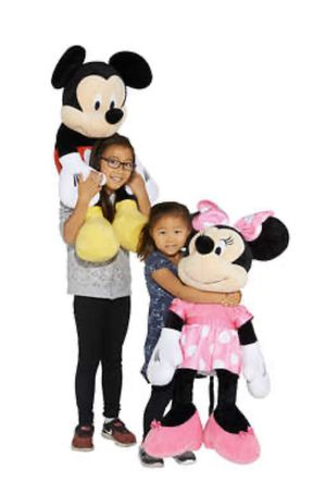 Disney Mickey Mouse and Minnie Mouse jumbo plush for Sale in Arcadia, CA