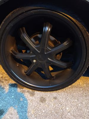 "22""black pacers rims an tires for Sale in Nashville, TN"