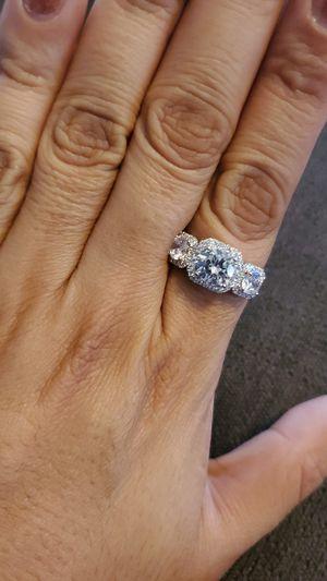 3 stone CZ sterling silver ring 🎁 for Sale in Chula Vista, CA