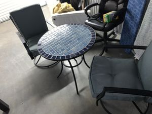 Outdoor patio deck table set with chairs for Sale in Bellevue, WA