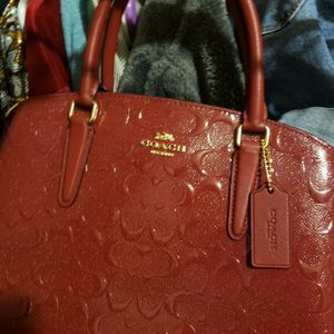 Embossed COACH Purse for Sale in Buda, TX