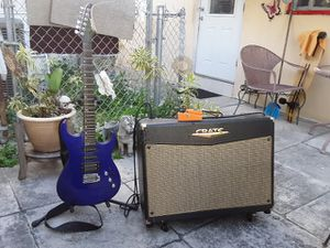 Silvertone Guitar, Crate amp, and Boss Ds-1 pedal for Sale in Miami, FL