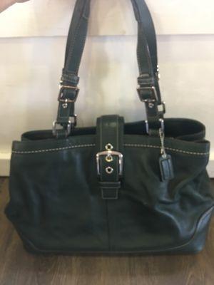 Coach hunter green purse for Sale in Sanger, CA