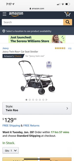 Joovy Twin Roo+ Car Seat Stroller with Adapters for Sale in Imperial Beach, CA