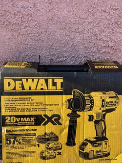 Brand New DEWALT 20-Volt MAX XR Lithium-Ion Cordless Premium Brushless Hammer Drill with (2) Batteries, Charger and Hard Case for Sale in Commerce,  CA