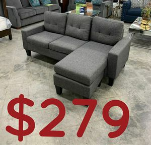 """Grey sectional sofa 77x58 """" new in factory packaging for Sale in La Palma, CA"""