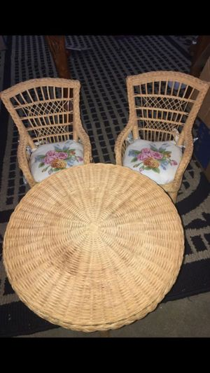 American girl doll wicker table and chairs for Sale in Pittsburg, CA