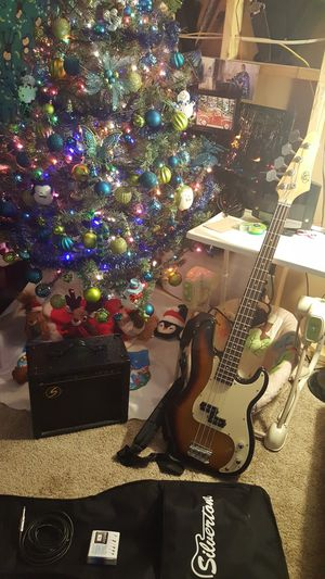 JBP Bass, Bass Amp with Cord, Case, Strap, and Tuner for Sale in Rhinelander, WI