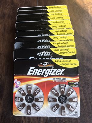 Energizer 312 EZ Turn & Lock Hearing Aid Batteries 16 Count. Lot of 13. Brand New Never Used. for Sale in Chevy Chase, MD