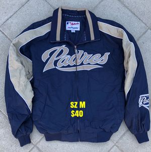 Padres baseball jacket authentic majestic gear gloves bats San Diego Padres for Sale in Los Angeles, CA