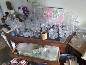 Real Crystal Glassware and antique china for Sale in Eustis, FL
