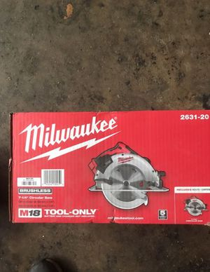 M18 brushless 7-1/4 circ saw for Sale in Church Hill, TN