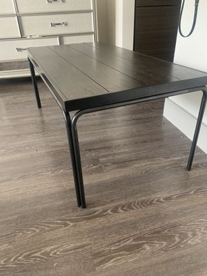Dark wood coffee table and end tables gently used- Bel Furniture for Sale in Houston, TX