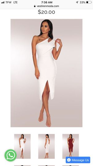 Elegant white dress by @vestirenmoda for Sale in Englewood Cliffs, NJ