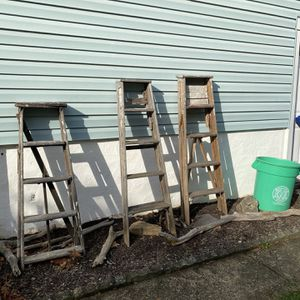 3-wooden Ladders for Sale in Mount Laurel Township, NJ