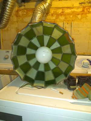 Vintage antique lamp Chandelier stained glass for Sale in Cleveland, OH