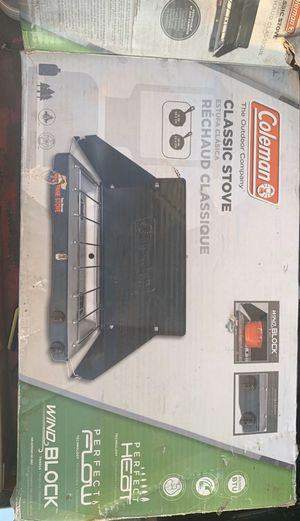 Coleman Portable propane gas classic stove with 2 burners for Sale in Fontana, CA