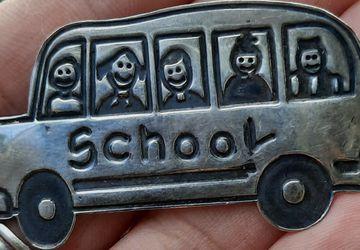 Sterling School Bus Brooch Pin for Sale in Largo,  FL