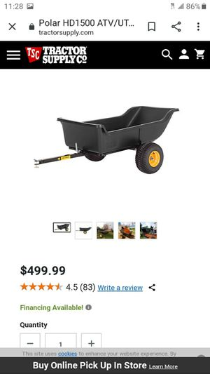 Dump little trailer for golf cart or small car for Sale in Orange, CA