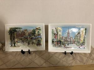 Vintage lenwile ardalt low relief ceramic plaques for Sale in Fort Lauderdale, FL