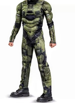 SZ 12-14 HALO MUSCLE BOY'S COSTUME WITHOUT MASK for Sale in Arlington, TX