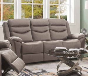 BROWN VELVET FABRIC SOFA RECLINER FULL RECLINE / SILLON RECLINABLE MUEBLES for Sale in Downey, CA