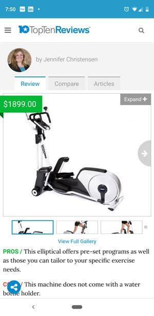 Smooth fitness elliptical for sale for Sale in Ashburn, VA