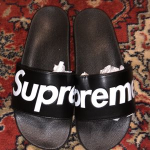 Supreme Slides Size 10 Black And Red for Sale in Fairfax, VA