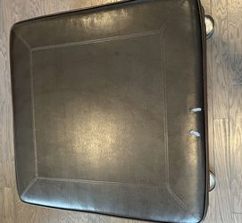 Large Leather Ottoman for Sale in Decatur,  GA