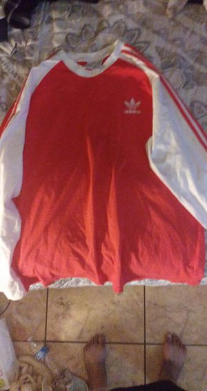 Orange and white striped Adidas shirt extra large for Sale in Mesa, AZ