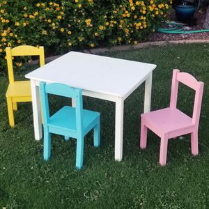 Kids Table with 3 Chairs for Sale in Scottsdale, AZ