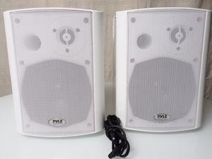 Pyle PDWR53BTWT - Wall Mount Home Speakers - Active Passive Mountable Bookshelf Indoor Studio Garage Patio Stereo Sound Home Theater Speaker, Wireles for Sale in Corona, CA