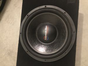 """15"""" American bass subwoofer sale or trade for Sale in Glendale, AZ"""