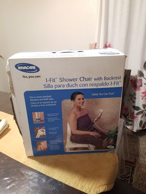 Shower chair with backrest for Sale in Las Vegas, NV