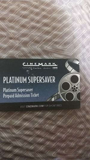 Platinum supersaver movie tickets for Sale in Westminster, CA