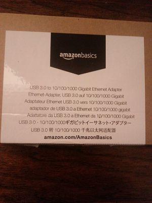 USB 3.0 to 10/100/1000 Gigabit Ethernet adapter, Amazonbasics for Sale in Stone Ridge, VA