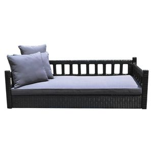 S13 Black 78'' Patio Porch Swing Bed Chair Wicker Tree Ceiling Hanger for Sale in El Monte, CA
