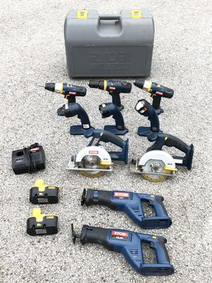 Ryobi 18.0 v Tool Set , 10 Tools , 2 Batteries and 1 Charger for Sale in Arlington, TX