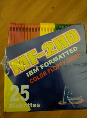 (25 Diskettes) MF- 2HD IBM FORMATTED COLOR FLOPPY DISK- for Sale in Gaithersburg, MD