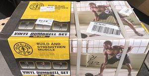 Brand new gold's gym adjustable vinyl dumbbell set 40 lbs for Sale in Annandale, VA