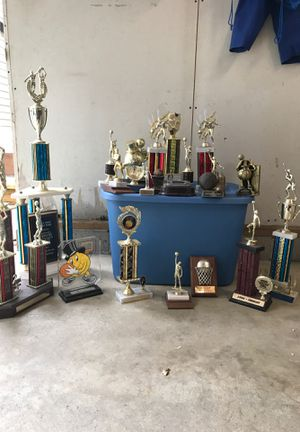 Free trophies any takers before landfill for Sale in Fairview, PA