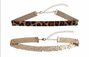 2 New Choker Necklaces Animal Print & Gold for Sale in East Brunswick, NJ