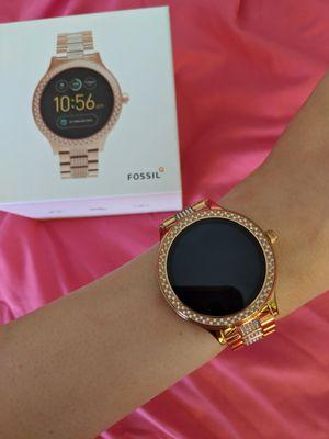 Fossil Q Rose Gold Rhinestone Studded Smart Watch Gen 3 Q Venture for Sale in Manassas, VA