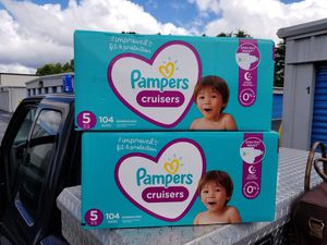 2 boxes of Pampers cruisers size 5 for Sale in Greenville, SC