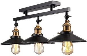 Brand new Industrial Vintage 3 Light Semi Flush Mount Ceiling Light Lamp Fixture Island Chandelier Fixture for Home Kitchen Living Room Dining Room for Sale in Queens, NY
